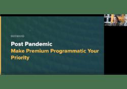 Post Pandemic Premium Programmatic CTA