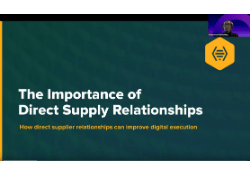 The Importance of Direct Supply Relationships CTA